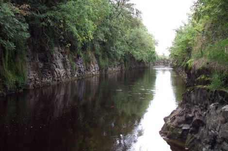 Lackagh rock-cut, on the lower reaches of the River Clare.