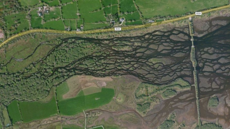 Aerial photo of the Gearagh, which was flooded by the construction of Carrigadrohid Reservoir by the ESB in the 1950's.
