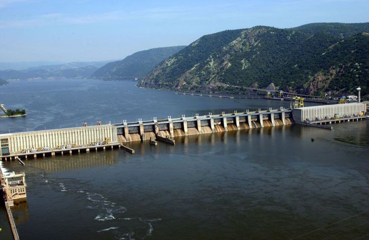 Djerdap 1 dam (Iron gates) on the River Danube
